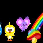 gallina pintadita mini clipart personajes 8484
