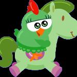 gallina pintadita mini clipart personajes caballito