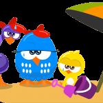 gallina pintadita mini clipart personajes playa