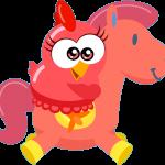 gallina pintadita mini clipart personajes rojo