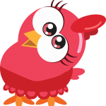 gallina pintadita mini clipart rojo