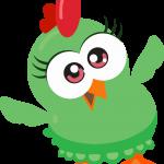 gallina pintadita mini clipart verde