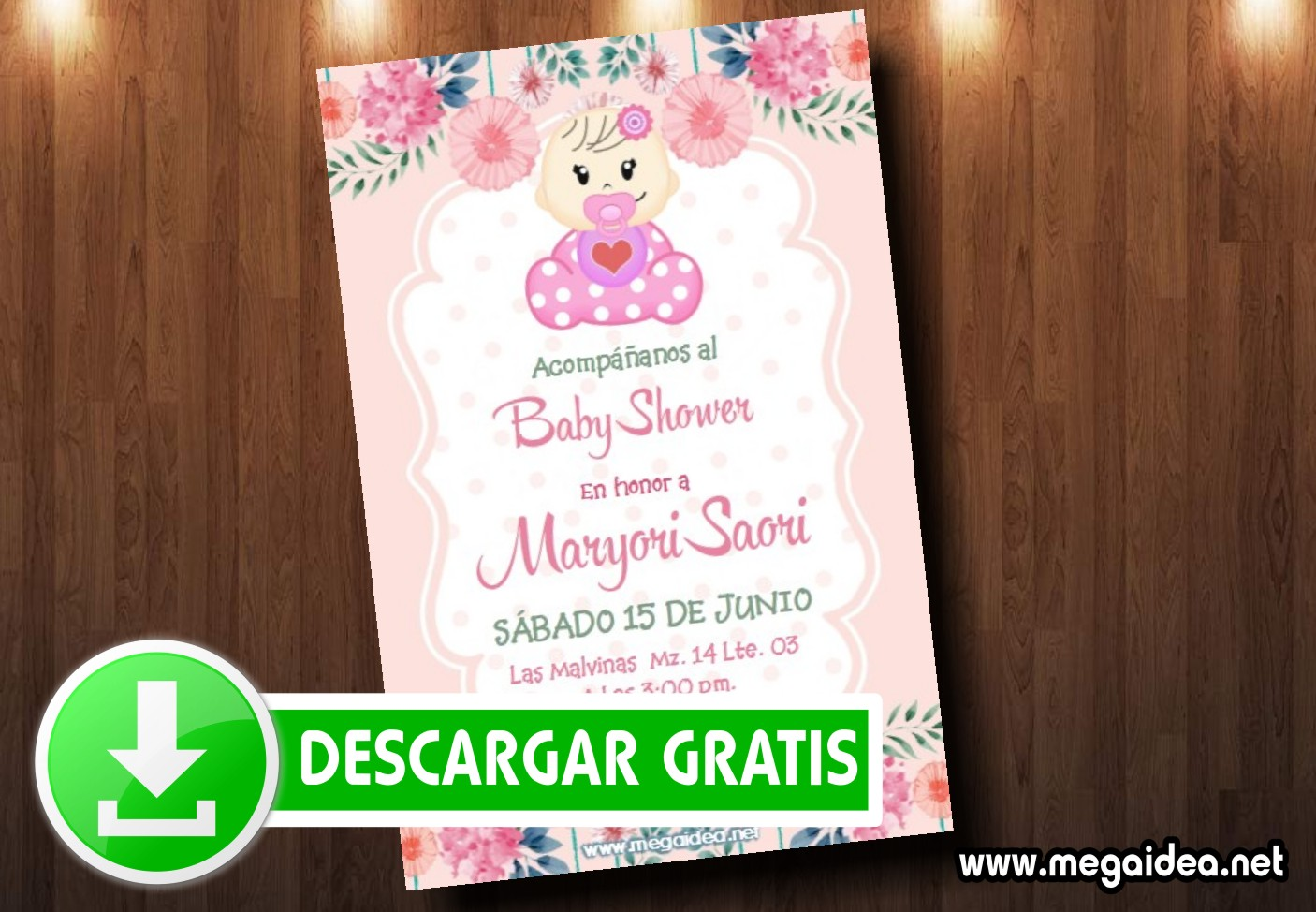 invitacion baby shower mujer