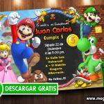 Invitacion Mario Bros Editable GRATIS