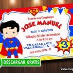 Invitación Superman para Editar GRATIS