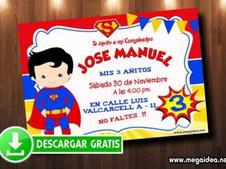 invitacion superman boy muestra