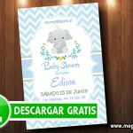 Invitaciones de Baby Shower Elefantito