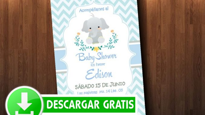 Invitaciones De Baby Shower Elefantito Mega Idea