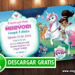 Invitaciones Nella la princesa valiente GRATIS