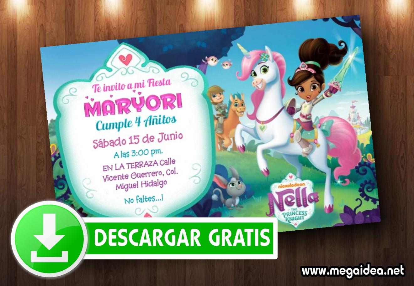 Invitaciones Nella La Princesa Valiente Gratis Mega Idea