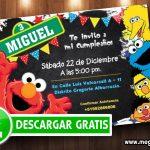 Invitaciones de Plaza Sesamo para editar GRATIS