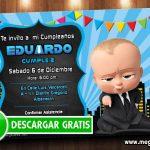 Invitación Digital Jefe en Pañales GRATIS – Baby Boss Invitation