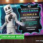 Marshmello Invitaciones para Editar GRATIS