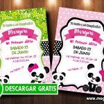 Invitación Cumpleaños Osita Panda GRATIS
