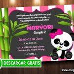 Invitaciones de Osita Panda para Editar GRATIS