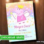 Invitación Peppa Pig Hada GRATIS