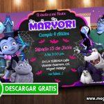 Invitacion Vampirina Editable GRATIS