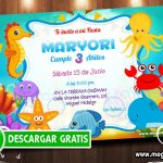 Invitaciones Animalitos del Mar
