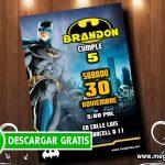 Invitación de Batman para Editar GRATIS
