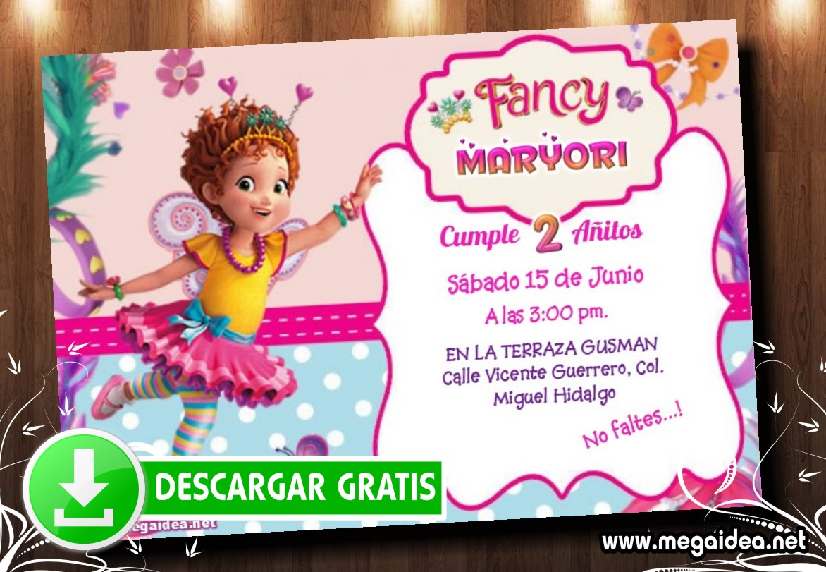 Fancy Nancy 02 Invitacion MUESTRA
