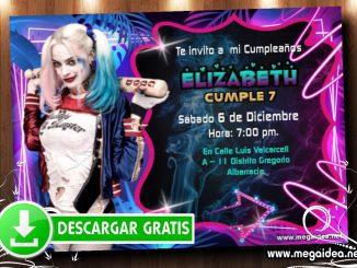 Harley Quinn Invitacion MUESTRA