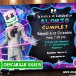 Invitaciones de Marshmello para Editar GRATIS