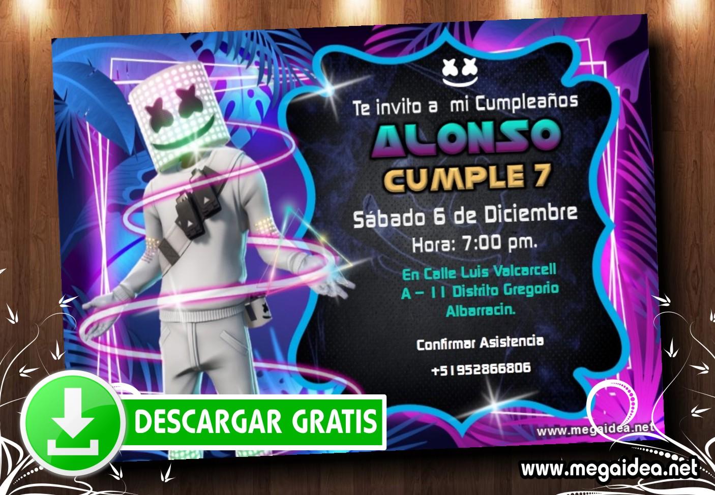 Marshmello2 Invitacion MUESTRA