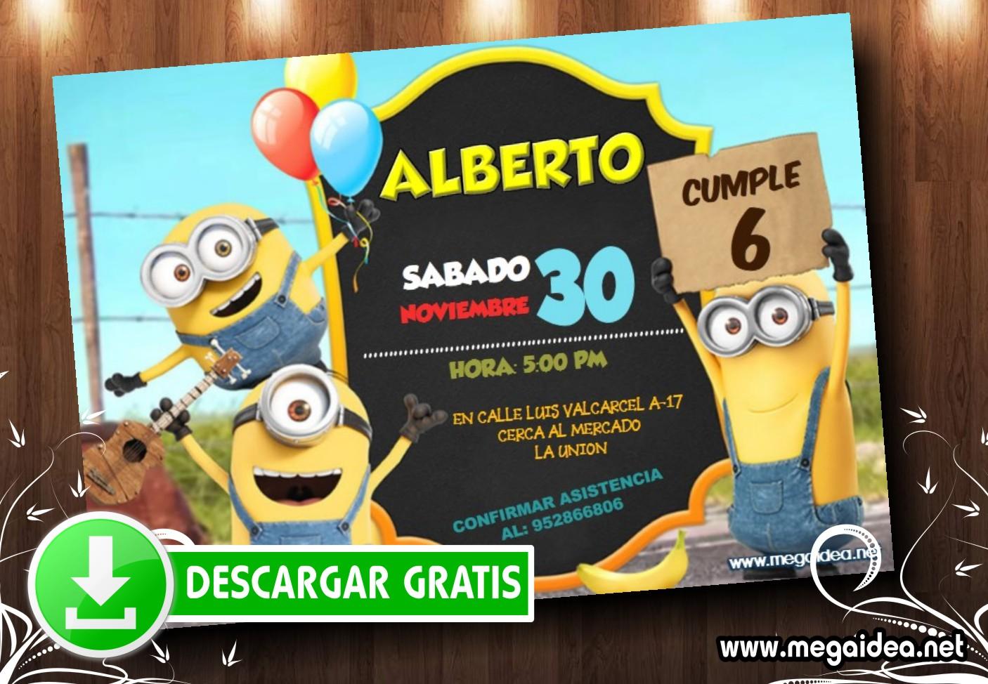 Minions Invitacion MUESTRA