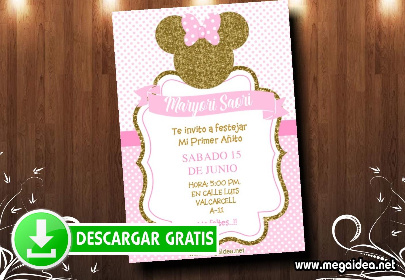 Minnie Gold 02 Invitacion MUESTRA