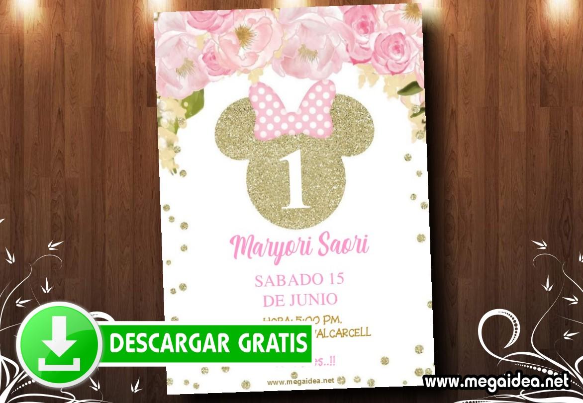 Minnie Gold 03 Invitacion MUESTRA