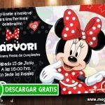 Invitaciones de Minnie Roja para Personalizar
