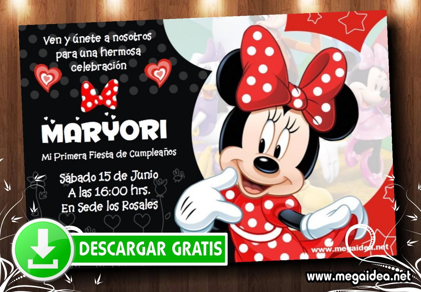 Minnie Roja 02 Invitacion MUESTRA