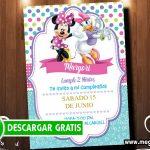 Invitaciones de Minnie y Daisy GRATIS
