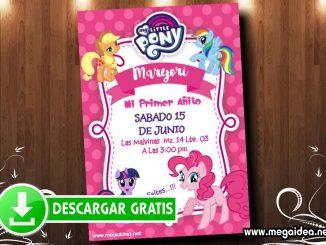 My Little Pony Invitacion MUESTRA