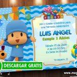 Invitación Pocoyo Cumpleaños GRATIS