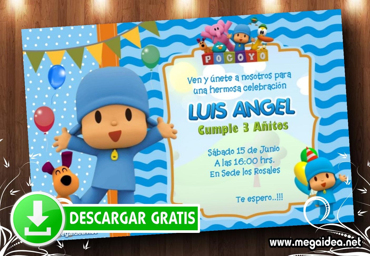 Pocoyo Lula Invitacion MUESTRA