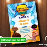 Invitaciones de Mini Beat Power Rockers para Editar