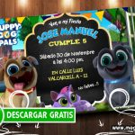 Puppy Dog Pals Invitaciones GRATIS