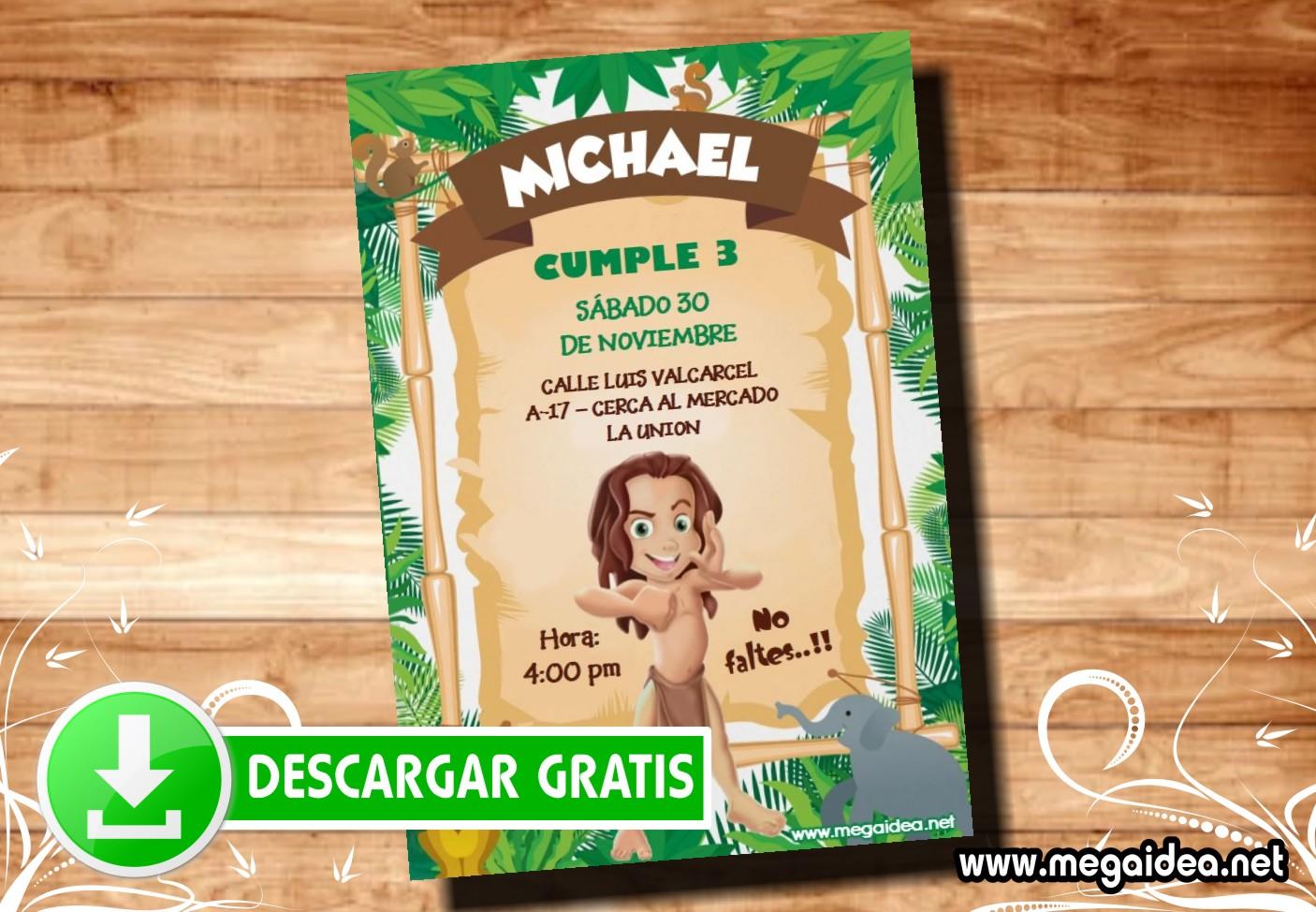 Tarzan Invitacion MUESTRA