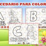 Abecedario Disney para Imprimir y Colorear
