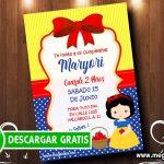 Invitaciones de Blanca Nieve Baby