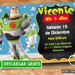 Buzz Lightyear Invitaciones de Toy Story