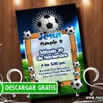 Invitación de Futbol para Imprimir GRATIS