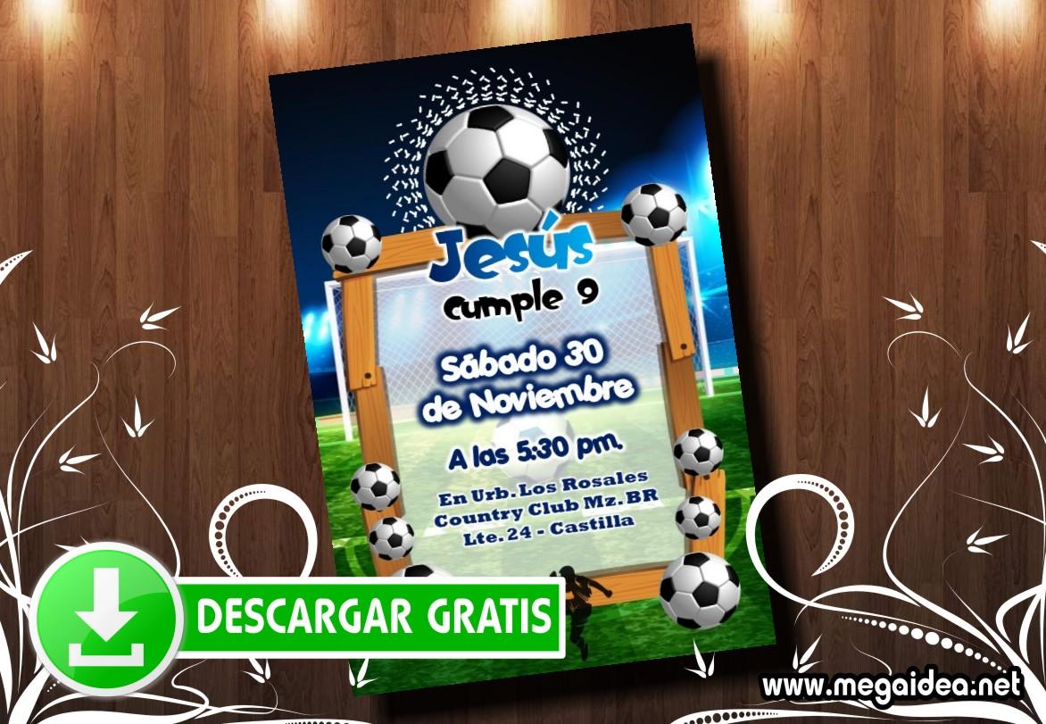 Invitación De Futbol Para Imprimir Gratis Mega Idea
