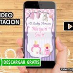 Video Invitación Baby Shower Niña
