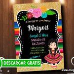 Invitación Fiesta Mexicana Editable GRATIS