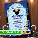 Tarjetas de Invitación de Mickey Rey