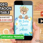 Video Invitación Baby Shower Editable