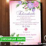 Invitación para 20 años Flores GRATIS