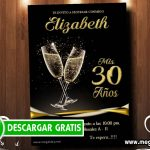 Invitacion para 30 años Mujer – GRATIS